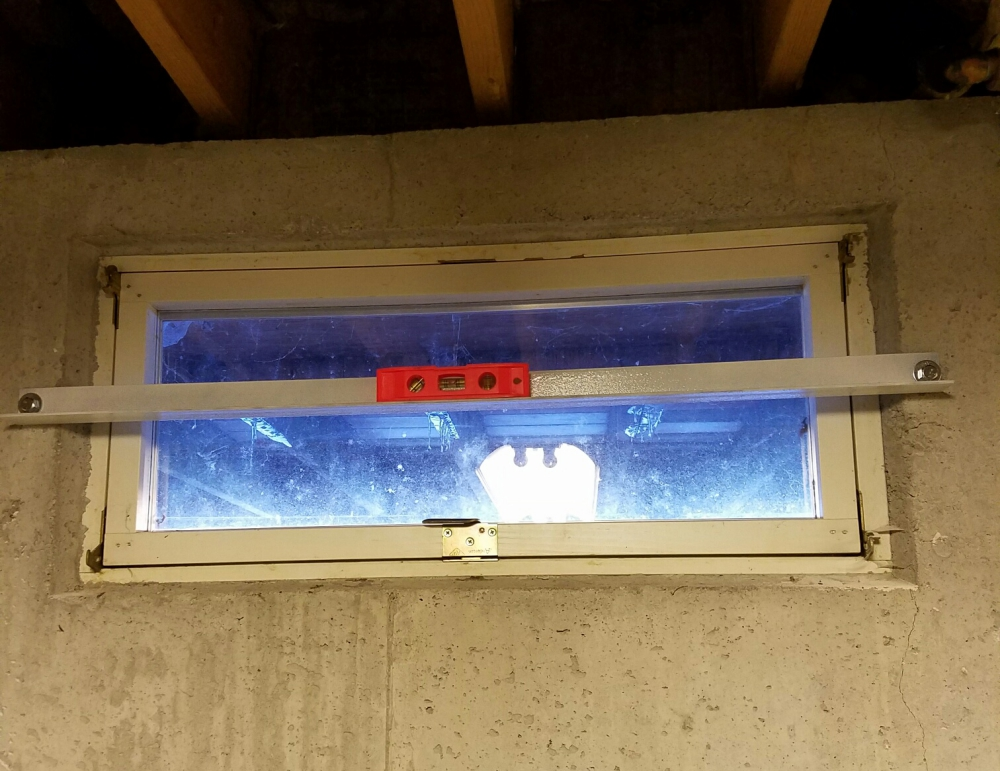Basement Window Bar for Safety in Maine